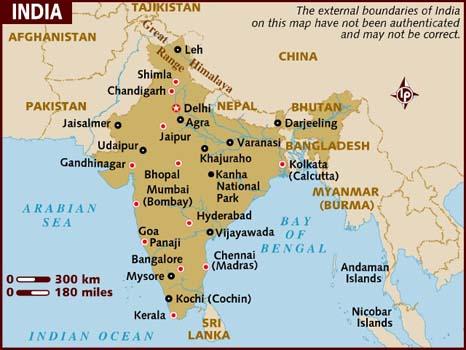 Carte India.Inde Carte Map Of India Indiantraveltourism